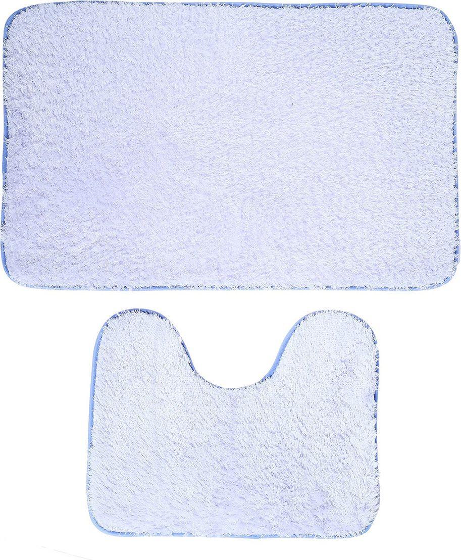 """Набор ковриков для ванной """"Пушистик"""", 3924902, сиреневый, 2 шт"""