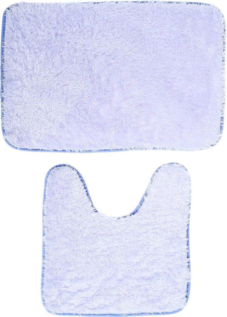 """Набор ковриков для ванной """"Пушистик"""", 3924904, сиреневый, 2 шт"""