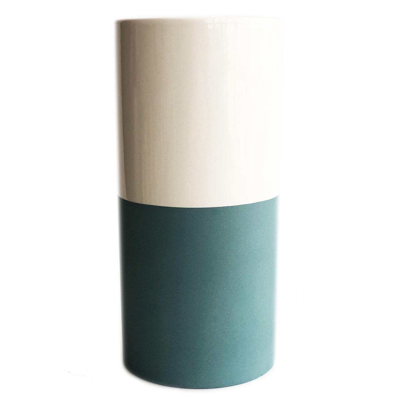 Ваза Impression Style 0102, бирюзовый, белый