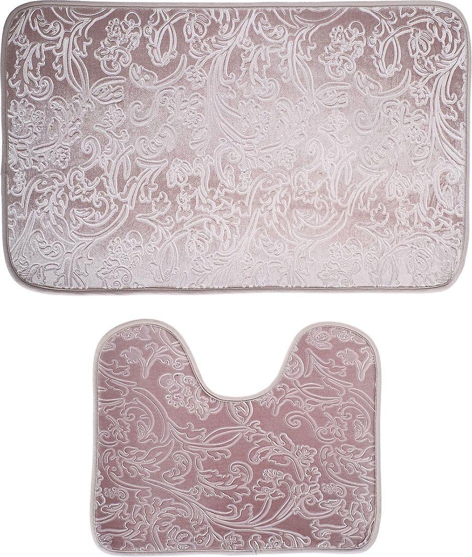 """Набор ковриков для ванной """"Афина"""", 3924920, серый, 2 шт"""