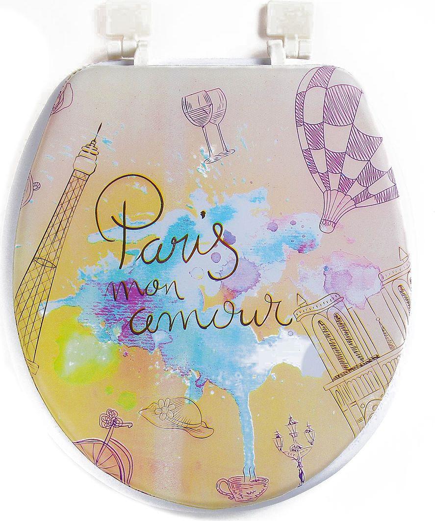 Сиденье для унитаза Париж - моя любовь, 3984441, разноцветный, 42 х 36 х 6 см балет любовь моя