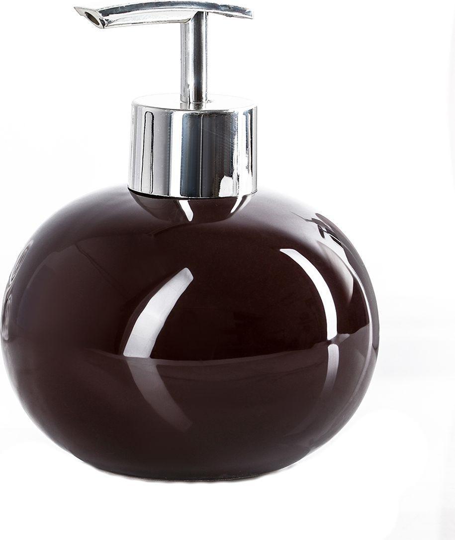 """Дозатор для жидкого мыла Доляна """"Карамель"""", 4004510, коричневый"""