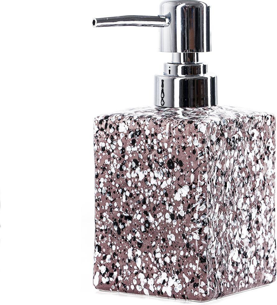 Дозатор для жидкого мыла Доляна Гранит, 4004514, коричневый дозатор для мыла ribba