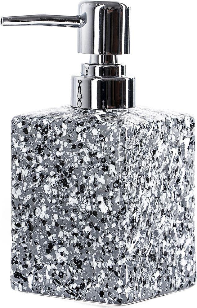 """Дозатор для жидкого мыла Доляна """"Гранит"""", 4004516, серый"""