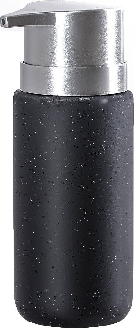 """Дозатор для жидкого мыла Доляна """"Тринити"""", 4004527, черный"""