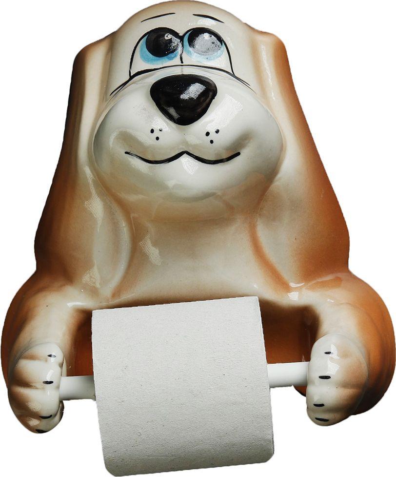 Держатель для туалетной бумаги Хорошие сувениры Собака, 4020366, коричневый держатель для губок marna sofis цвет коричневый