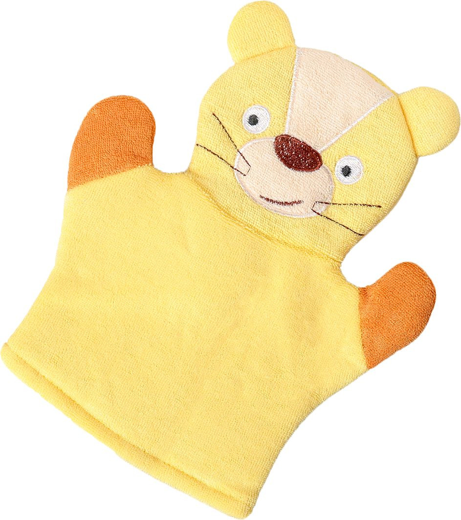 мочалка eva варежка Мочалка-варежка детская Львенок, 4097982, желтый