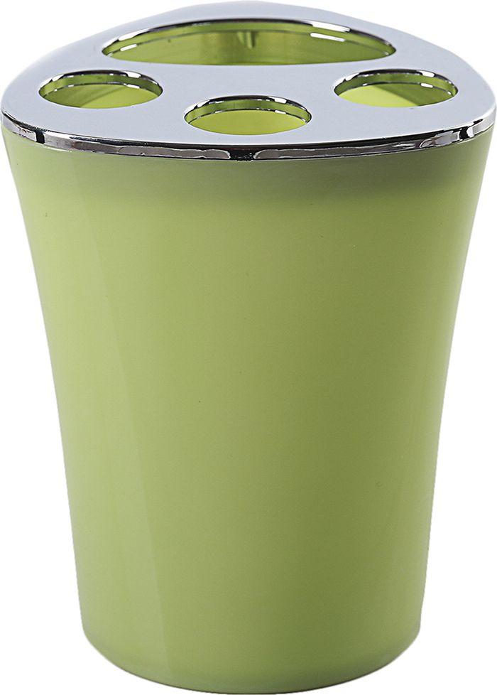 Стакан для зубных щеток Wiki, 4192012, зеленый держатель для зубных щеток идея кроха лягушка цвет зеленый белый
