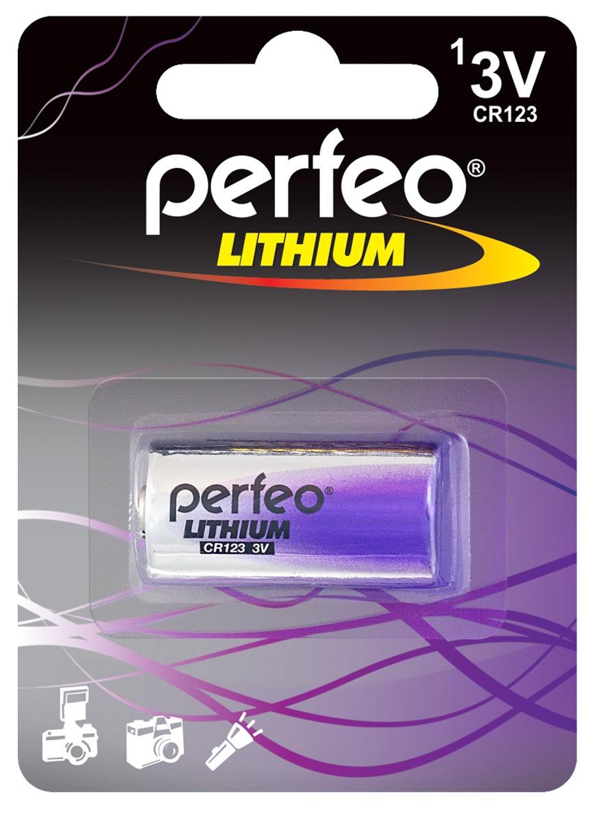 Батарейка Perfeo PF CR123/1BL