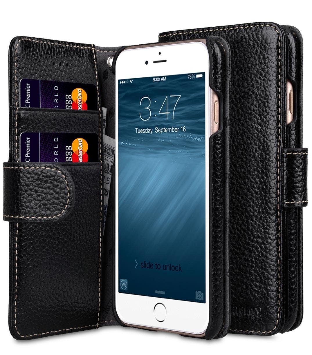 Чехол для сотового телефона Melkco Кожаный чехол книжка для Apple iPhone 7 Plus/8 Plus - Wallet Book Type, черный чехол книжка для apple iphone 7 8 sgp valentinus черный