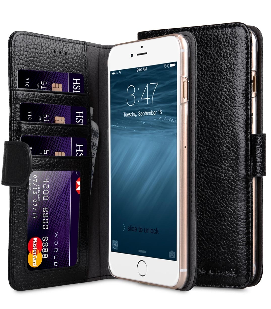Чехол для сотового телефона Melkco Кожаный чехол книжка для Apple iPhone 6/6S - Wallet Book ID Slot Type, черный