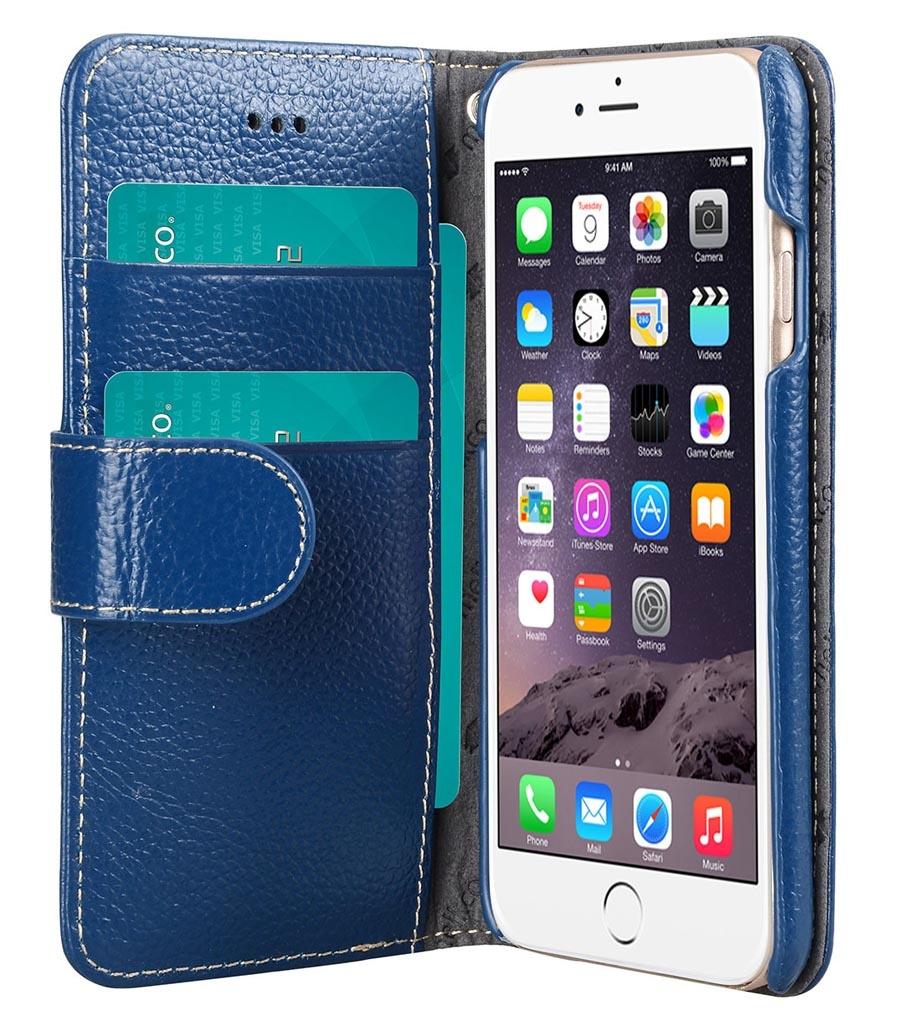 Чехол для сотового телефона Melkco Кожаный чехол книжка для Apple iPhone 6/6S - Wallet Book Type, темно-синий