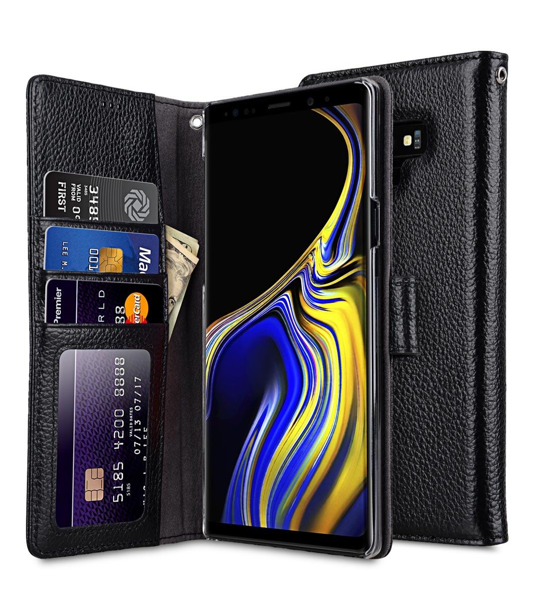 Чехол для сотового телефона Melkco Кожаный чехол книжка для Samsung Galaxy Note 9 - Wallet Book ID Slot Type, черный