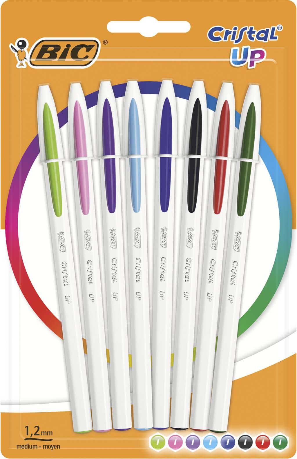 Набор шариковых ручек Bic Cristal Up, B949869, 8 цветов