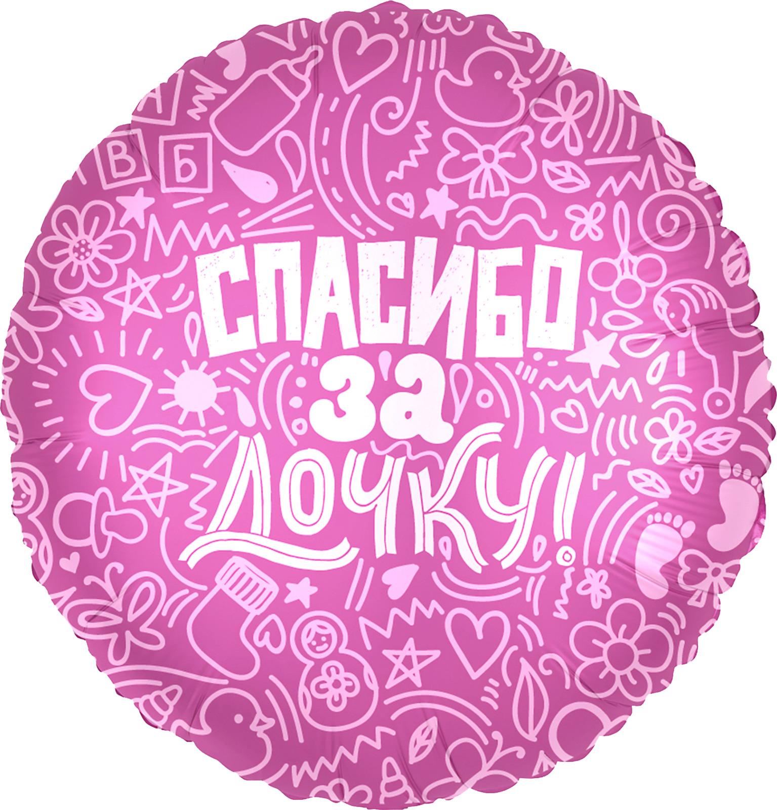 Воздушный шар Agura Miland Спасибо за дочку, 466-5-306-68595-3
