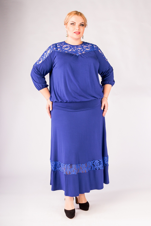 Юбка Артесса длинная джинсовая юбка большого размера