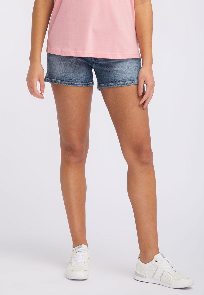 Шорты MUSTANG High Waist Short vertical striped high waist leggings