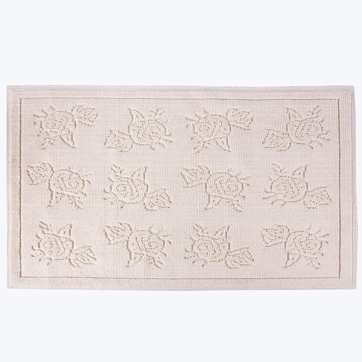 Коврик для ванной Arya home collection Camellia, бежевый коврик arya 60х100 2 пр assos бирюзовый 1126860