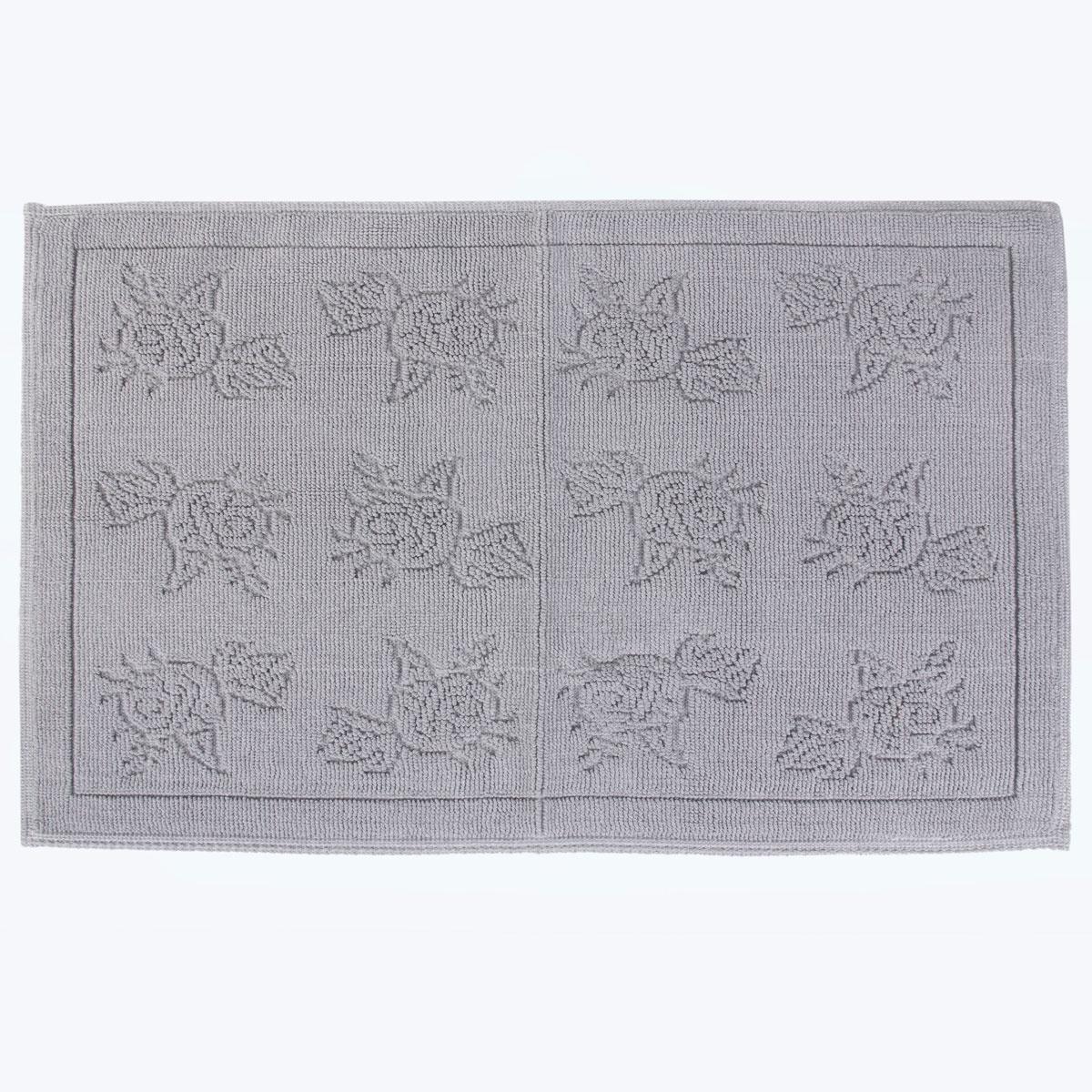 Коврик для ванной Arya home collection Camellia, серый коврик arya 60х100 2 пр assos бирюзовый 1126860