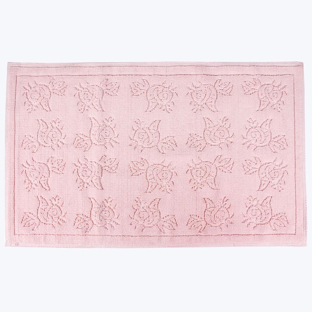 Коврик для ванной Arya home collection Camellia, розовый коврик arya 60х100 2 пр assos бирюзовый 1126860