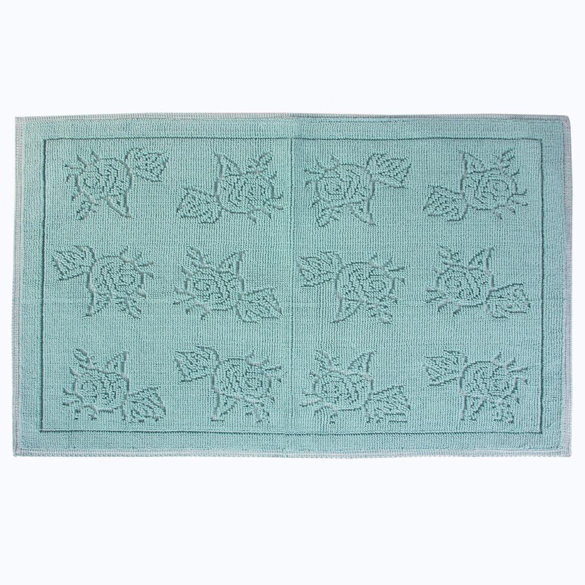 Коврик для ванной Arya home collection Camellia, зеленый коврик arya 60х100 2 пр assos бирюзовый 1126860