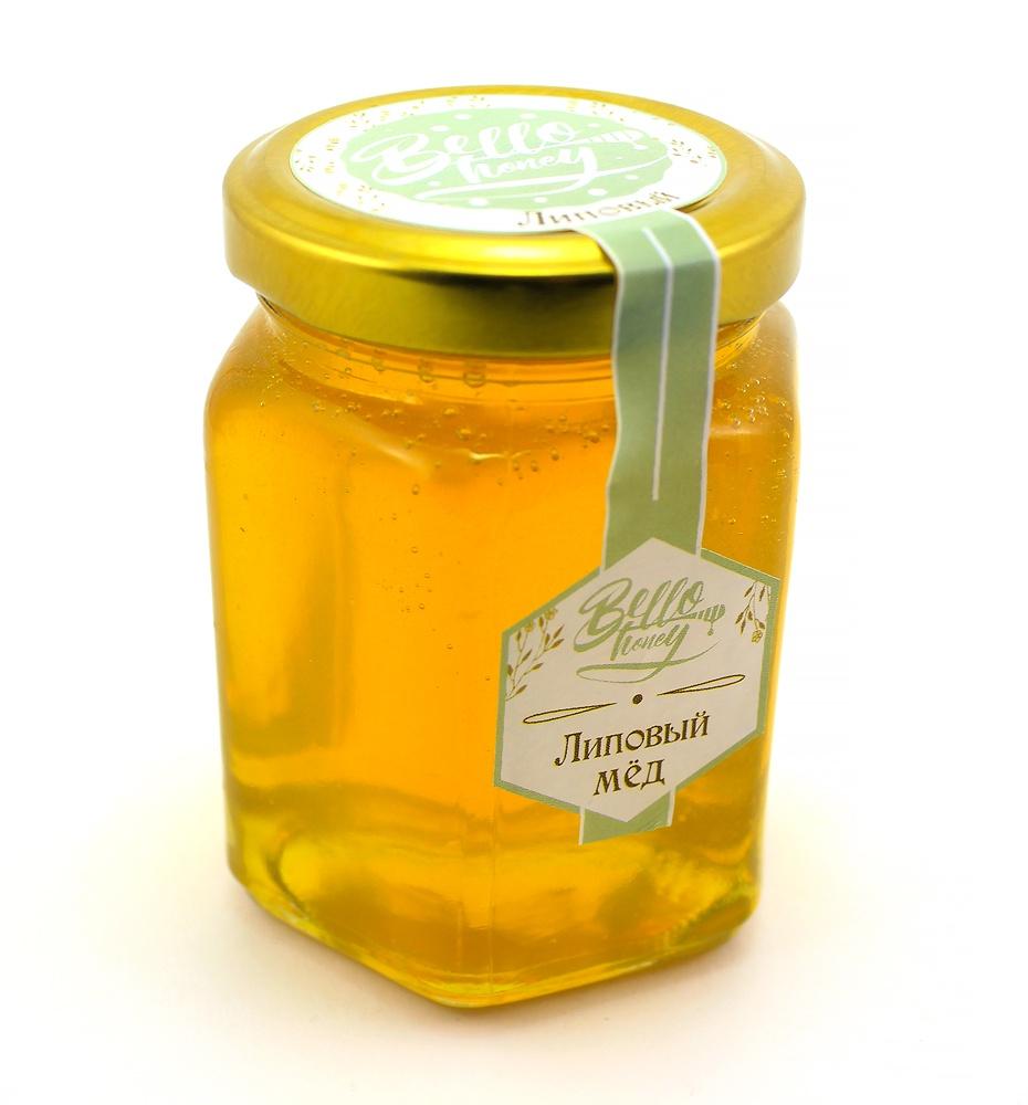 Суперфудс BelloHoney Мёд липовый (200мл) подарок мед натуральный берестов а с липовый башкирхан 360 г