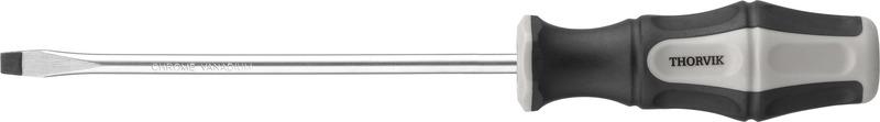 Отвертка стержневая шлицевая Thorvik, SDL8200, SL8 х 200 мм отвертка стержневая шлицевая thorvik sdl5075 sl5 х 75 мм