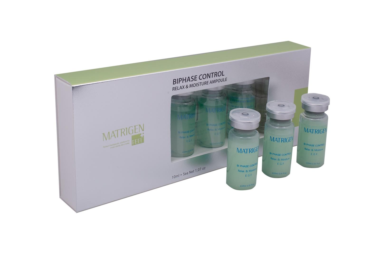 Сыворотка для лица Matrigen Biphase Control Relax and Moisture E G F Ampoule Двухфазная сыворотка Антистресс и увлажнение