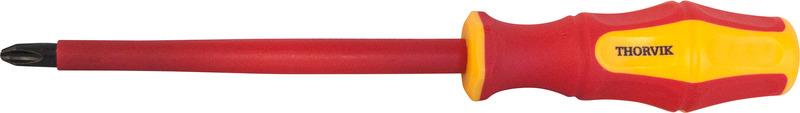 Отвертка стержневая диэлектрическая крестовая Thorvik, SDPI180, VDE 1000V, PH1 х 80 мм отвертка thorvik sdlg575