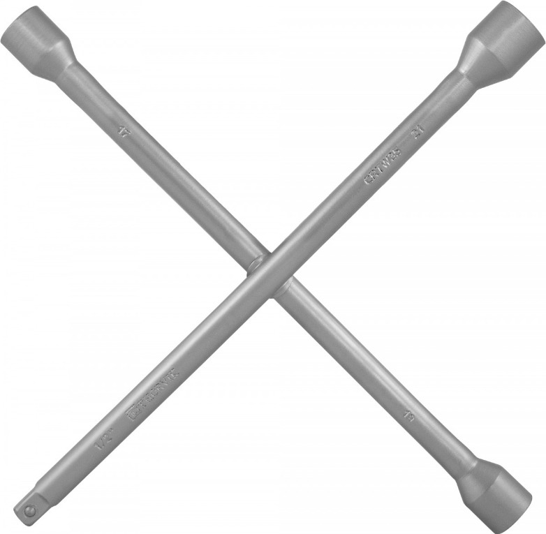 Ключ баллонный крестообразный Thorvik, CRTW35, 17х19х21x1/2DR, 350 мм ключ баллонный matrix двухсторонний 30x32 мм толщина 26 мм длина 350 мм 14296