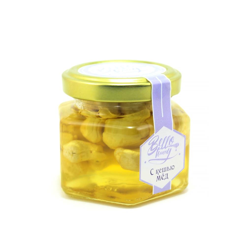 Суперфудс BelloHoney Кешью в меду (100мл) витамины 3 6 9 омега