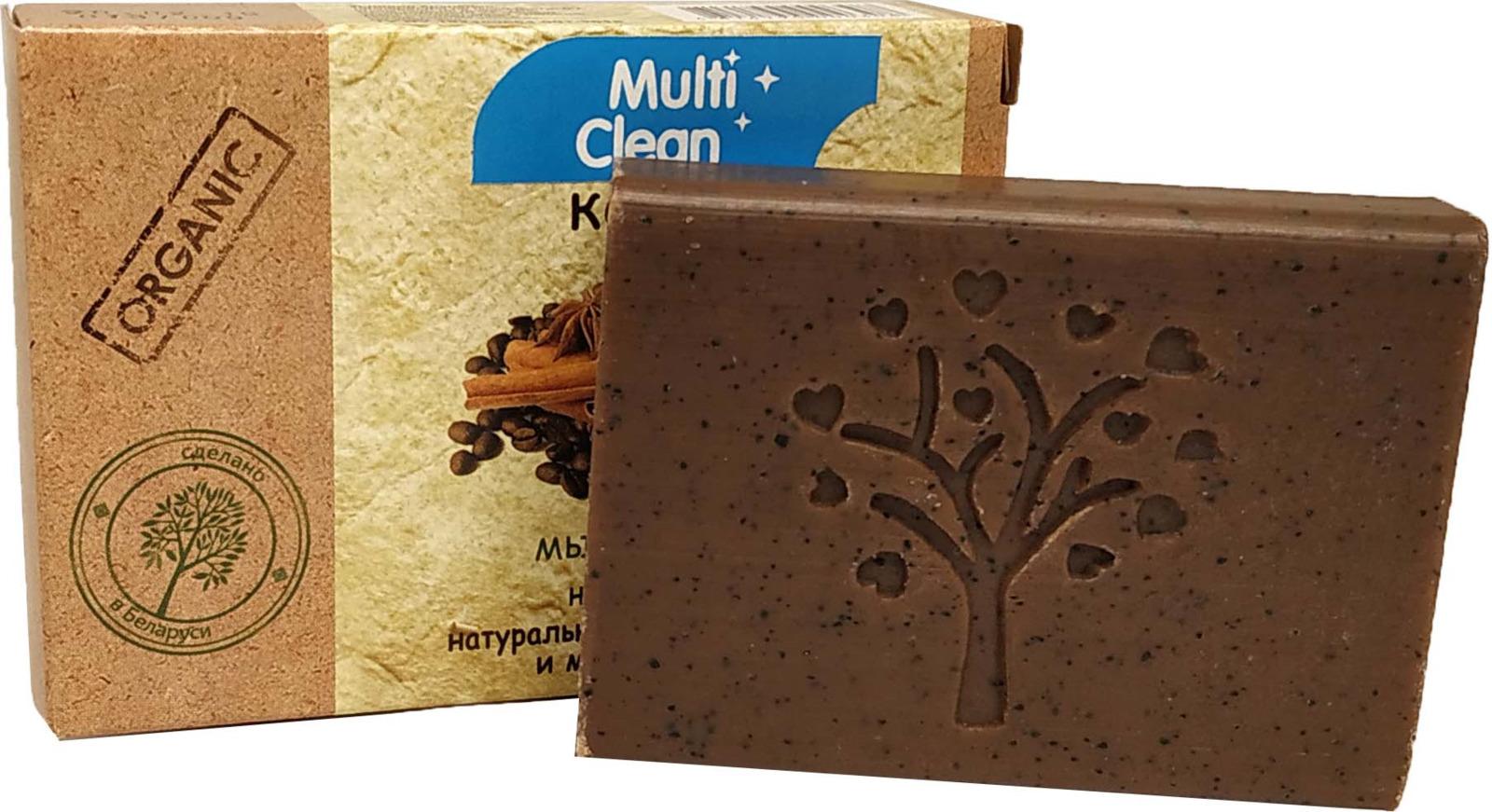 Мыло-скраб туалетное твердое MultiClean Organic. Кофе, 90 г l occitane bonne mеre мыло туалетное молоко bonne mеre мыло туалетное молоко
