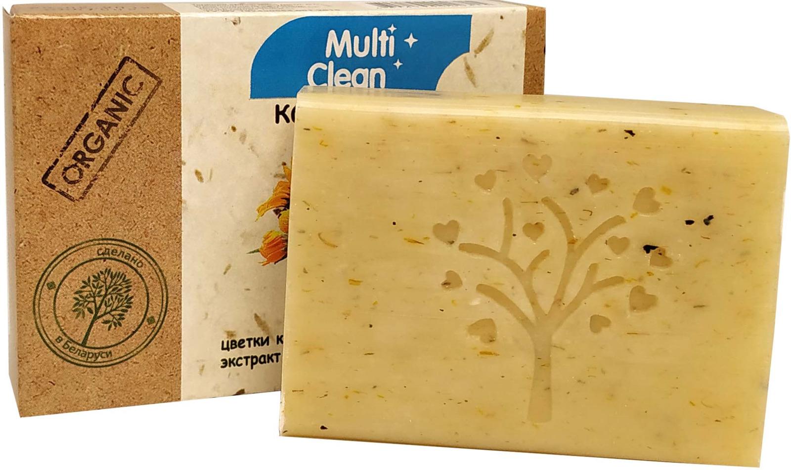 """Крем-мыло туалетное твердое MultiClean """"Organic. Календула"""", 90 г"""
