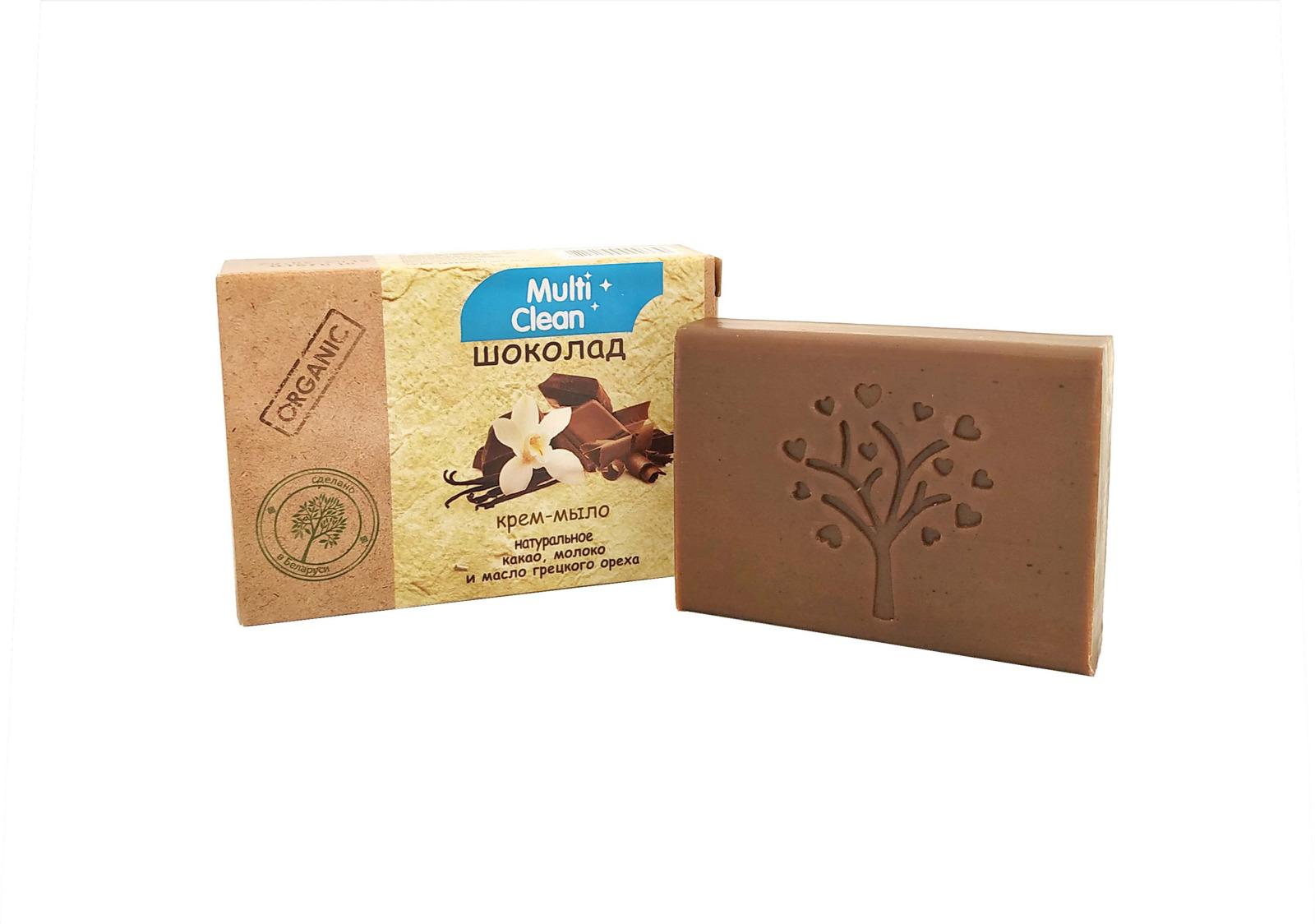 Крем-мыло туалетное твердое MultiClean Organic. Шоколад, 90 г l occitane bonne mеre мыло туалетное молоко bonne mеre мыло туалетное молоко