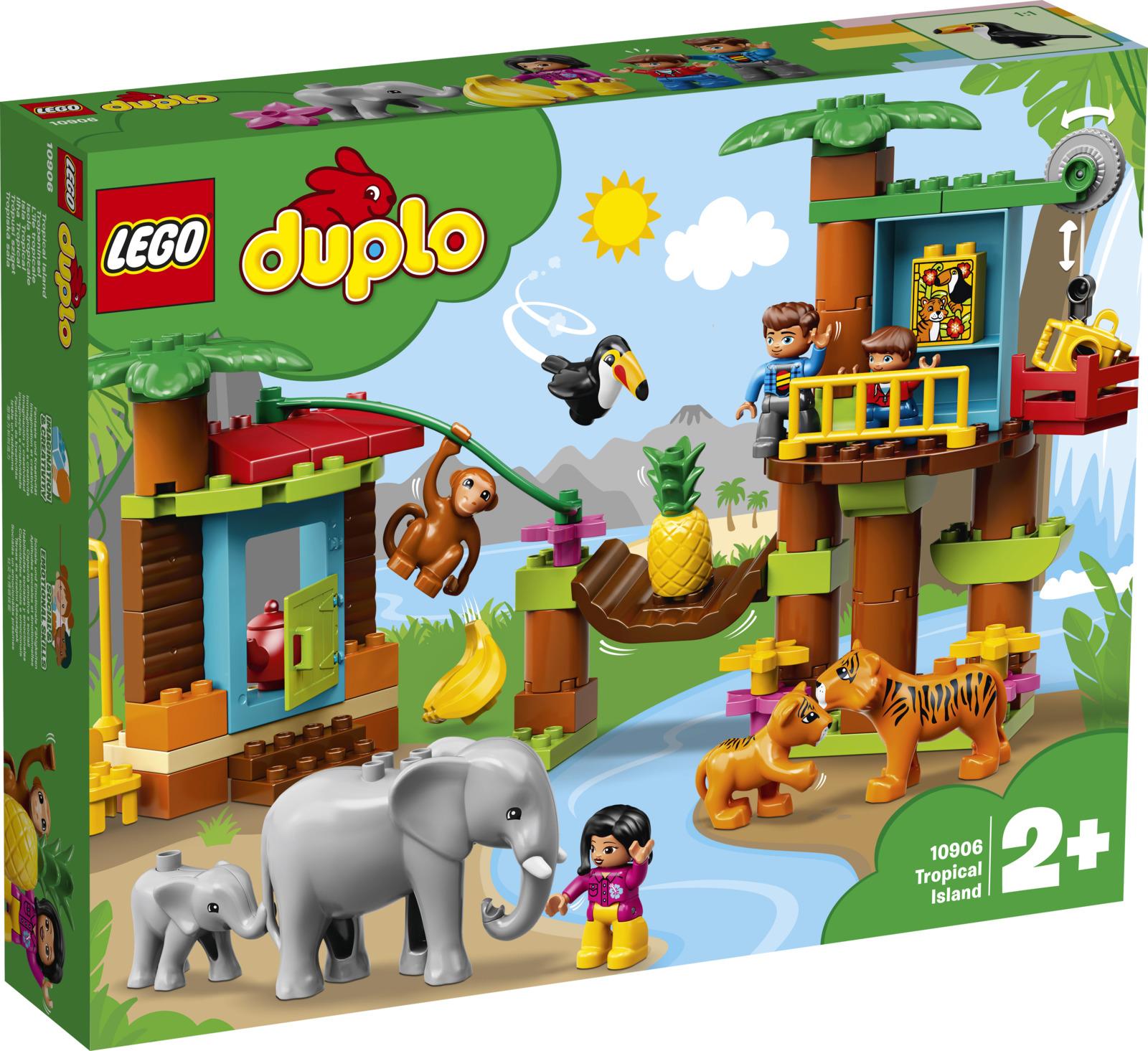LEGO DUPLO Town 10906 Тропический остров Конструктор худи print bar тропический остров