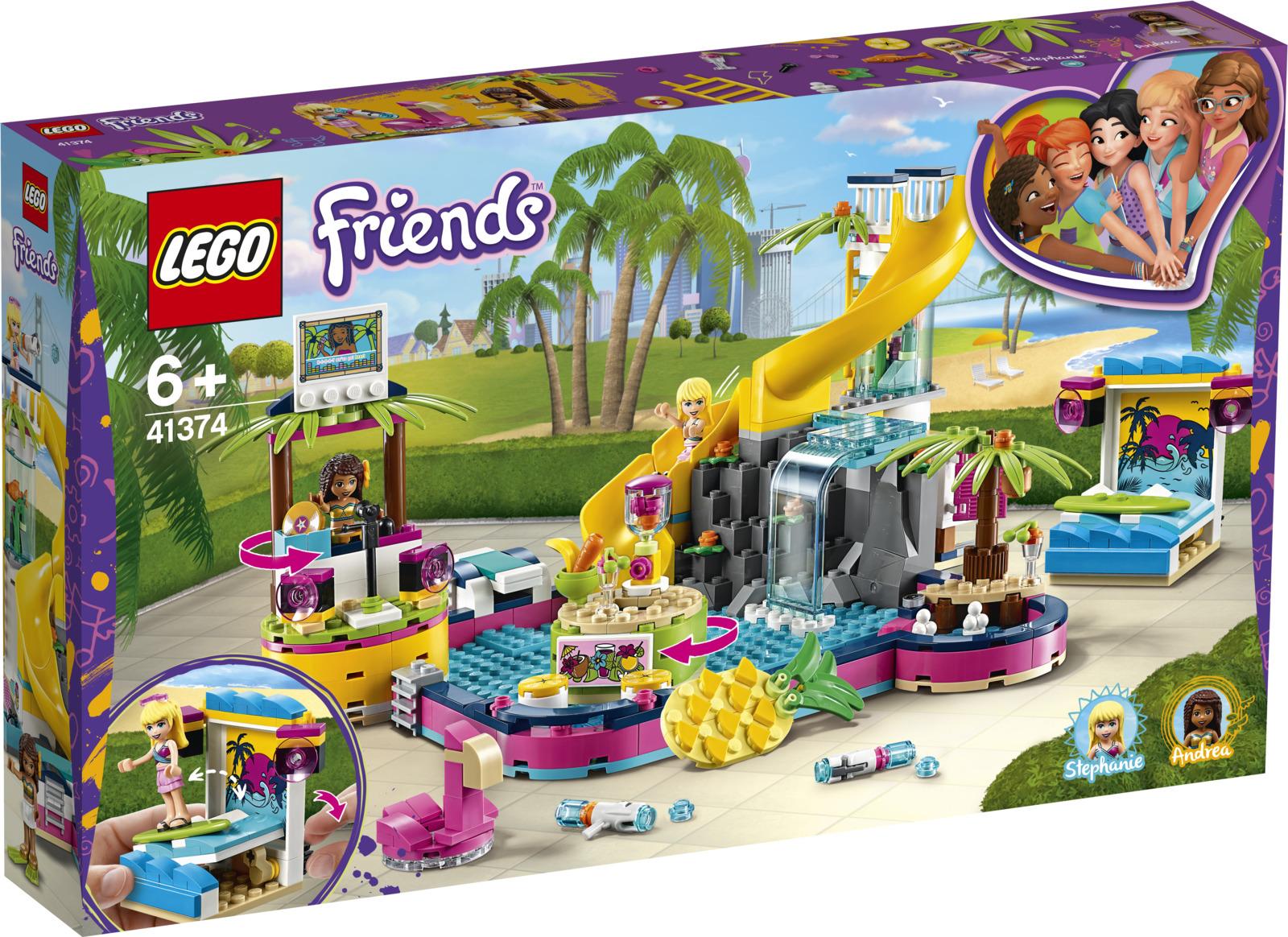 LEGO Friends 41374 Вечеринка Андреа у бассейна Конструктор lego friends 41341 комната андреа конструктор