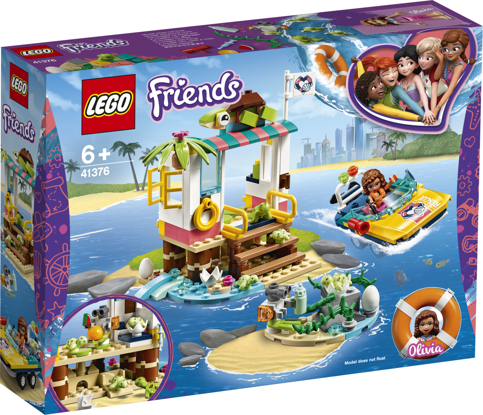 LEGO Friends 41376 Спасение черепах Конструктор конструктор friends lego lego mp002xg00jtd