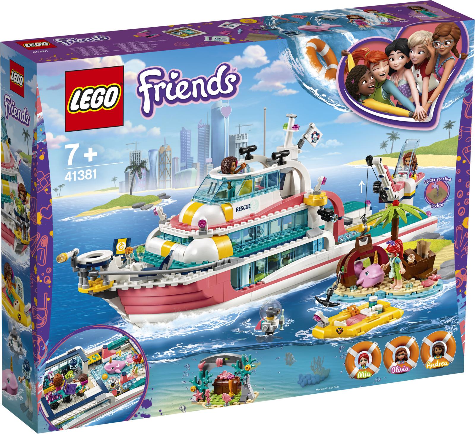 Фото - LEGO Friends 41381 Катер для спасательных операций Конструктор lego friends скоростной катер андреа 41316