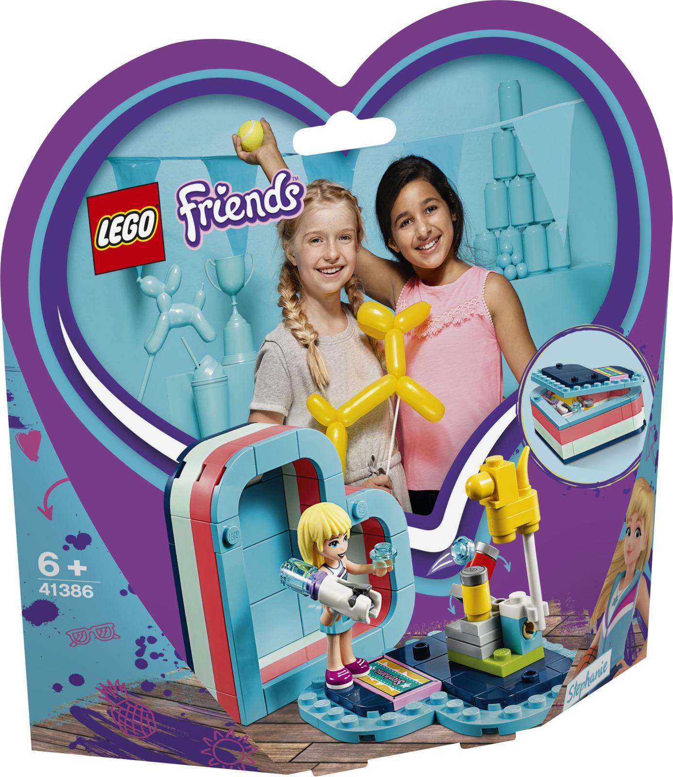 LEGO Friends 41386 Летняя шкатулка-сердечко для Стефани Конструктор конструктор lego friends 41338 спортивная арена для стефани