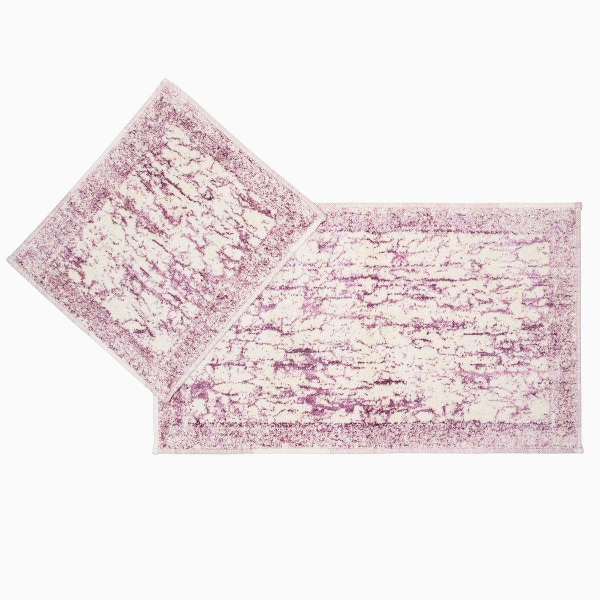 Набор ковриков для ванной Arya home collection Tropik, сиреневый
