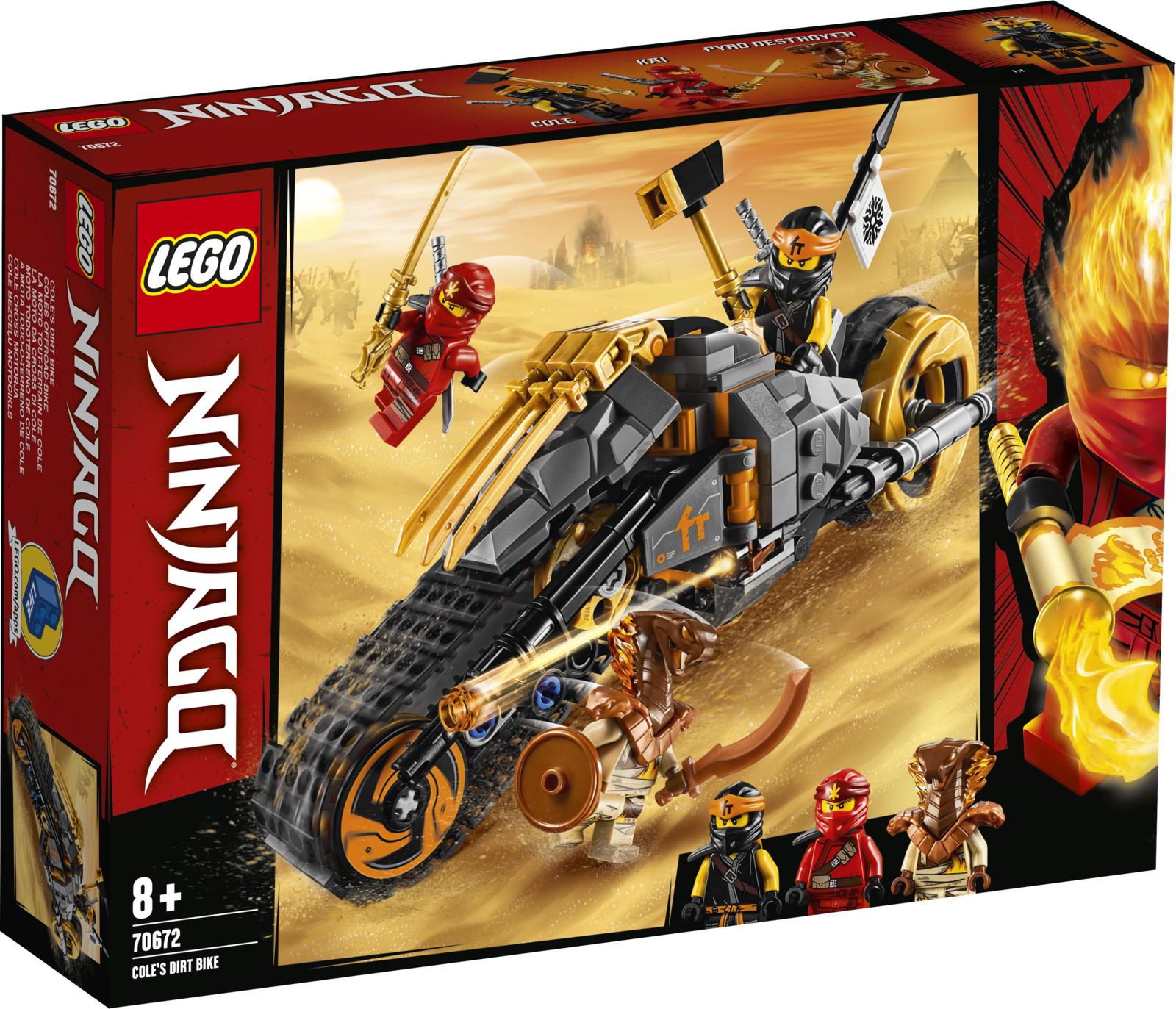 LEGO Ninjago 70672 Раллийный мотоцикл Коула Конструктор