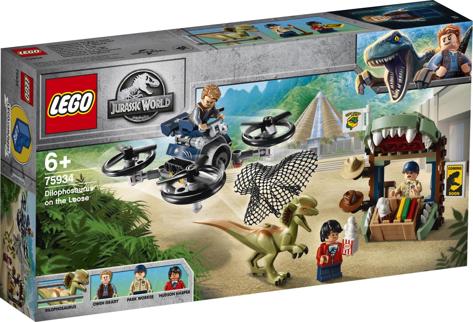 LEGO Jurassic World 75934 Побег дилофозавра Конструктор конструктор jurassic world lego lego mp002xb00842