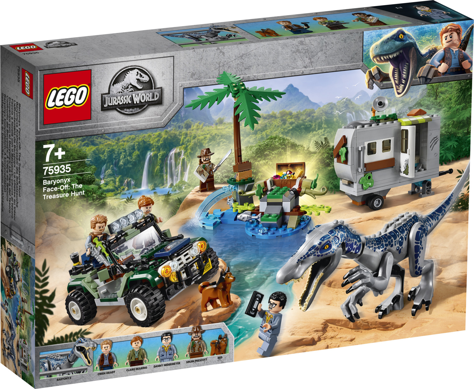 LEGO Jurassic World 75935 Поединок с бариониксом: охота за сокровищами Конструктор конструктор jurassic world lego lego mp002xb00842