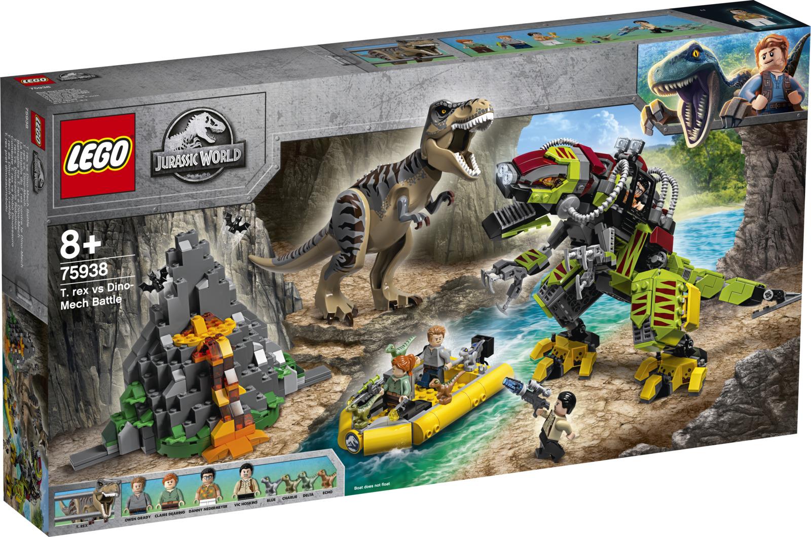 LEGO Jurassic World 75938 Бой тираннозавра и робота-динозавра Конструктор
