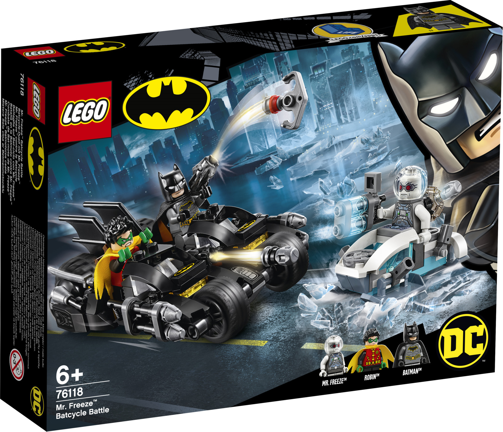 LEGO Super Heroes 76118 Гонка на мотоциклах с Мистером Фризом Конструктор