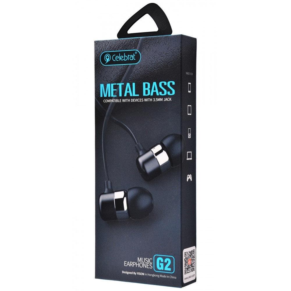 Наушники YISON Celebrat Metal Bass G2, черный гарнитура yison n1 gold