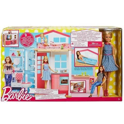Игровой набор Mattel Домик Барби с куклой