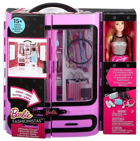 Игровой набор Mattel Barbie Розовый шкаф модницы с куклой Барби