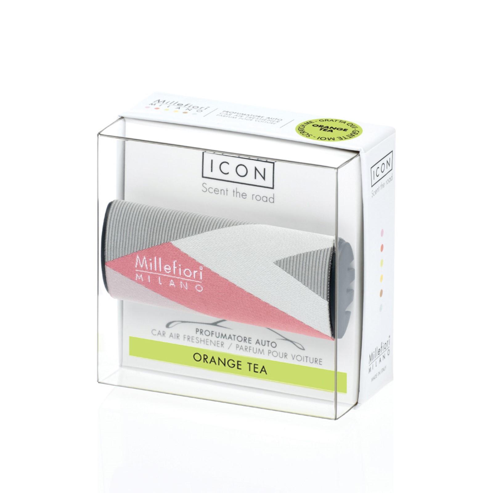 Фото - ICON / Ароматизатор в авто Текстильная геометрия Апельсиновый чай CAR AIR FRESHENER ICON TEXTILE GEOMETRIC - ORANGE TEA авто