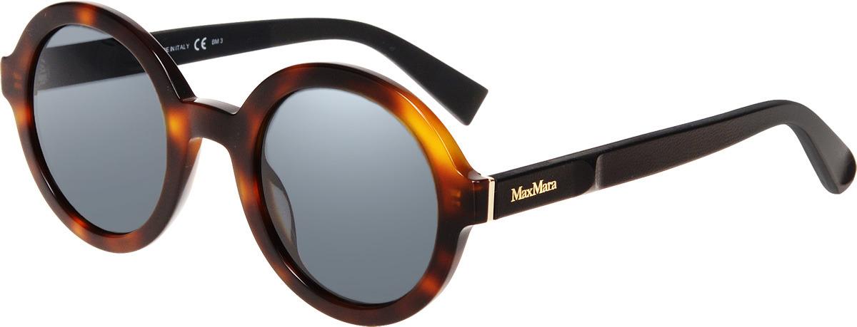 Очки солнцезащитные женские Max Mara, MAX-223880LTY48IR, коричневый цены онлайн